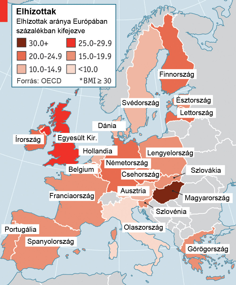Elhízás Magyarországon - mi a véleményetek az Európai Unió országaiban végzett kutatás eredményéről?